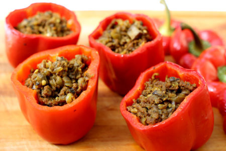 Cooking for Nutrition (Stuffed Red Bell Pepper Recipe)